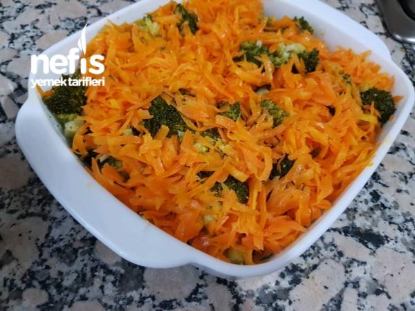 Yoğurtlu Havuçlu Brokoli Salatası( Nefis)