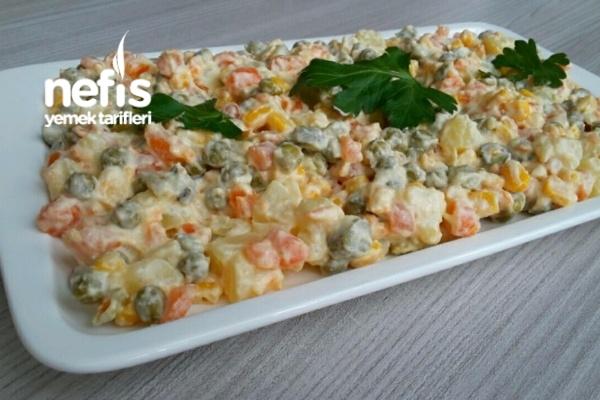 Rus Salatası (Tam Kıvamında) (videolu)