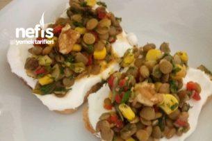 Yeşil Mercimekli Etimekli Salata (Vitamin Deposu) Tarifi