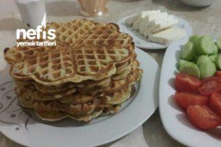Waffle Makinasında Kahvaltılık Dereotlu Peynirli Hamur İşi Tarifi