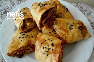 Bulgurlu Cevizli Kıymalı Lavaş Börek Tarifi