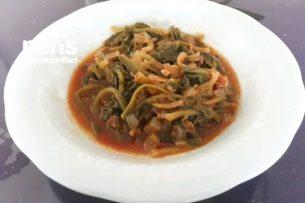 Zeytinyağlı Ispanak Kökü Yemeği Tarifi