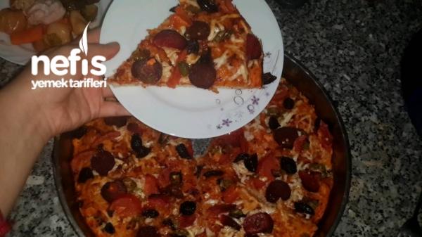 Pizza ( Basit Malzemelerle )