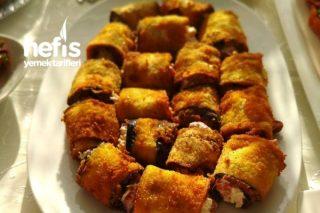 Patlıcan Ve Tavuklu Rulo Salata Tarifi