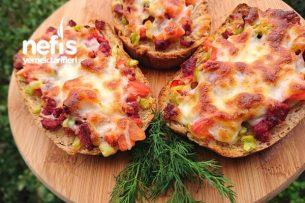 Pratik Ekmek Dilimi Pizzası Tarifi