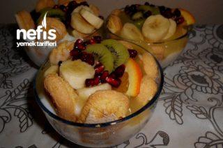 Meyveli Portakal Pelteli Sütlü Muhallebi Tarifi