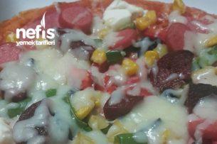 Bazlamadan Pizza Tarifi