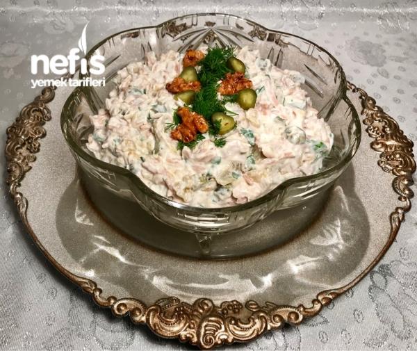 Tavuklu Köz Patlıcan Salatası ( Meze)