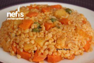 Tereyağlı Sebzeli Bulgur Pilavı Tarifi