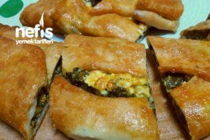 Peynirli Ispanaklı Pide Börekler Tarifi