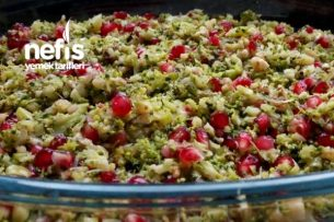 Brokoli Salatası Narlı Cevizli Tarifi