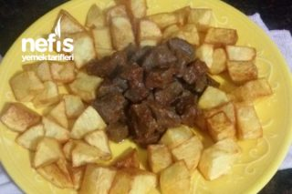 Patates Kızartması Eşliğinde Ciğer Sote Tarifi