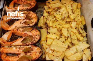 Fırında Somon Balığı Ve Patates Tarifi