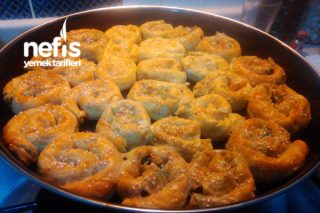 Ispanaklı Kıymalı Gül Böreği Tarifi