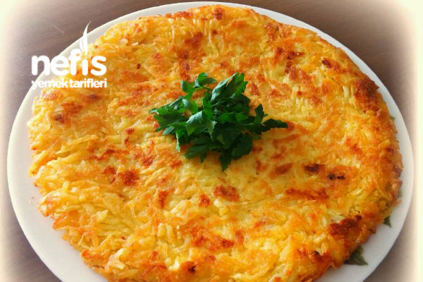Kaşarlı Çıtır Patates Tava (10 Dakikada) Tarifi