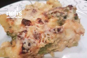 Fırında Bol Beşamelli Patates ve Göğüs Eti Tarifi