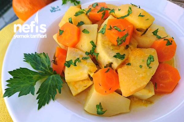 Ayvalı Portakallı Mandalinalı Kereviz Yemeği Tarifi