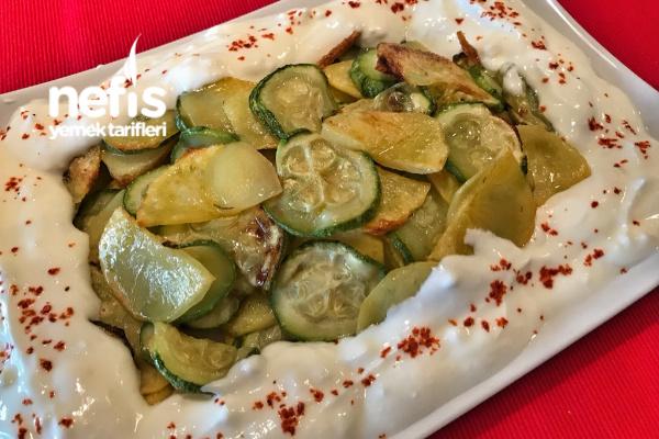 Fırında Kabak Patates Kızartma Tarifi