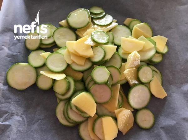 Fırında Kabak Patates Kızartma
