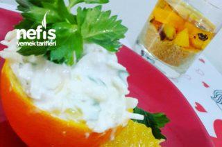 Portakal Çanağında Kereviz Salatası Tarifi