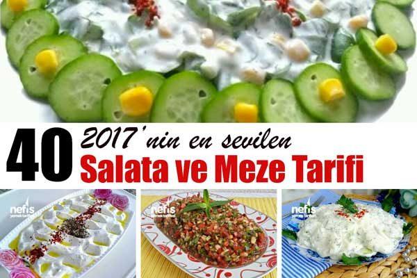 2017'nin En Değişik Kolay ve Doyurucu 40 Salata Tarifi