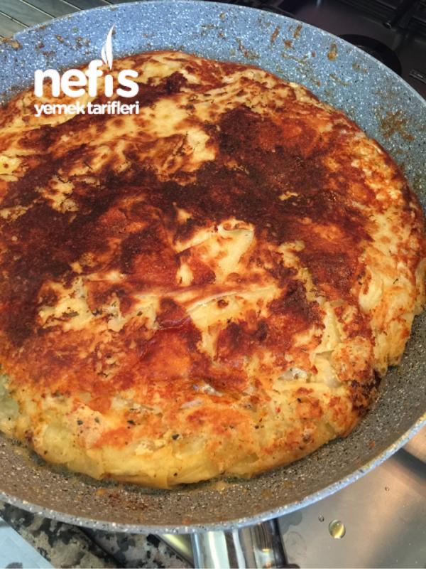 2 Yufka-1 Börek (su Böreği Tadında Kırpık Tava Böreği)