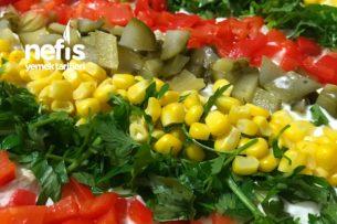 Etimekli Köz Patlıcanlı Enfes Doyurucu Salata Tarifi
