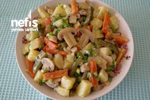 Mantarlı Patates Salatası Tarifi