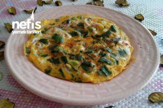Yeşil (Taze) Soğanlı Omlet Tarifi