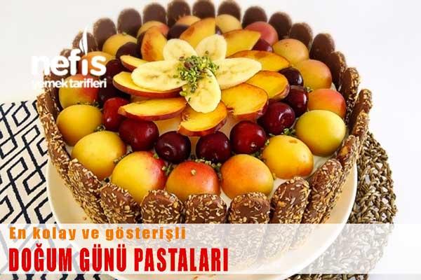Kolay ve Gösterişli Doğum Günü Pastaları Tarifleri Tarifi