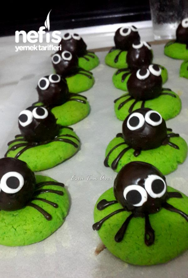 Pudingli Örümcek Kurabiye