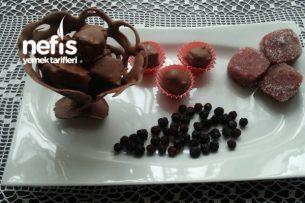 Çikolata Kaplı Vişneli Lokum (Çikolata Danteli Kupta) Tarifi