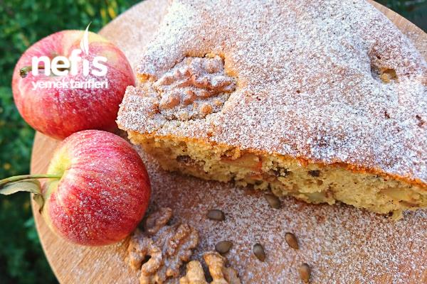 Elmalı Cevizli Tarçınlı Pamuk Kek Tarifi