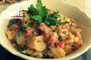 Közbiberli Yoğurtlu Patates Salatası Tarifi