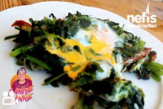 Yumurtalı Ispanak Kavurması (Videolu) Tarifi
