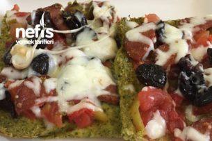 Glutensiz Brokoli Tabanlı Fit Pizza Tarifi