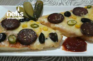 Yumuşacık Pizza (Büyük Boy, Tam Ölçü, Açıklamalı Anlatım) Tarifi