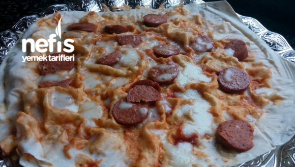 Hazır Yufkadan Pizza(tavada 10 Dakikada)