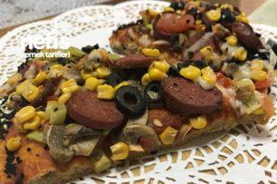 Kepekli Unlu Ev Yapımı Pizza Tarifi