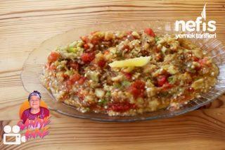 Közlenmiş Patlıcan Salatası (Videolu) Tarifi