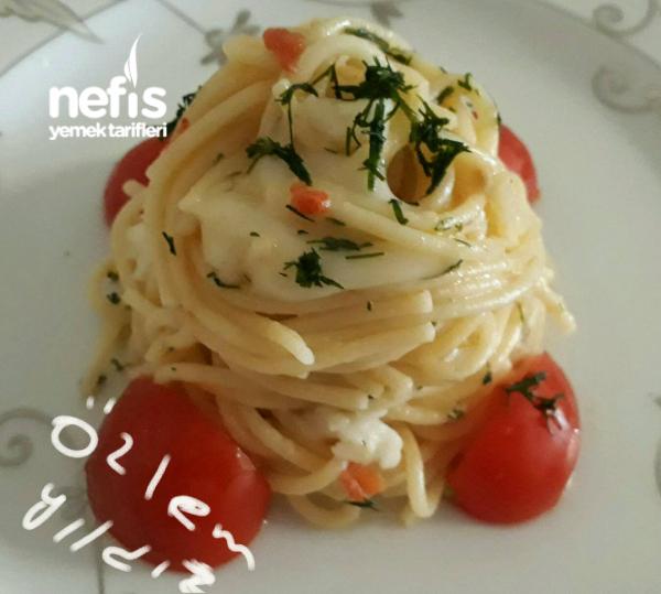 Peynirli Dereotlu Spagetti Makarna