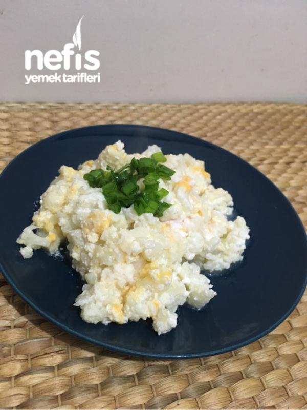 Sağlıklı Fit Peynirli Makarna Tadında Yemek