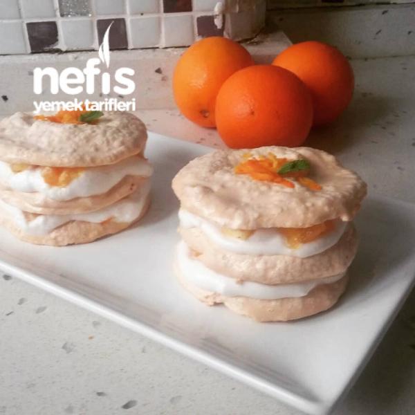 Portakallı Mini Pavlova (mis Kokulu,enfes)
