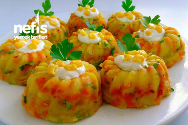 Porsiyonluk Yoğurtlu Patates Salatası Tarifi