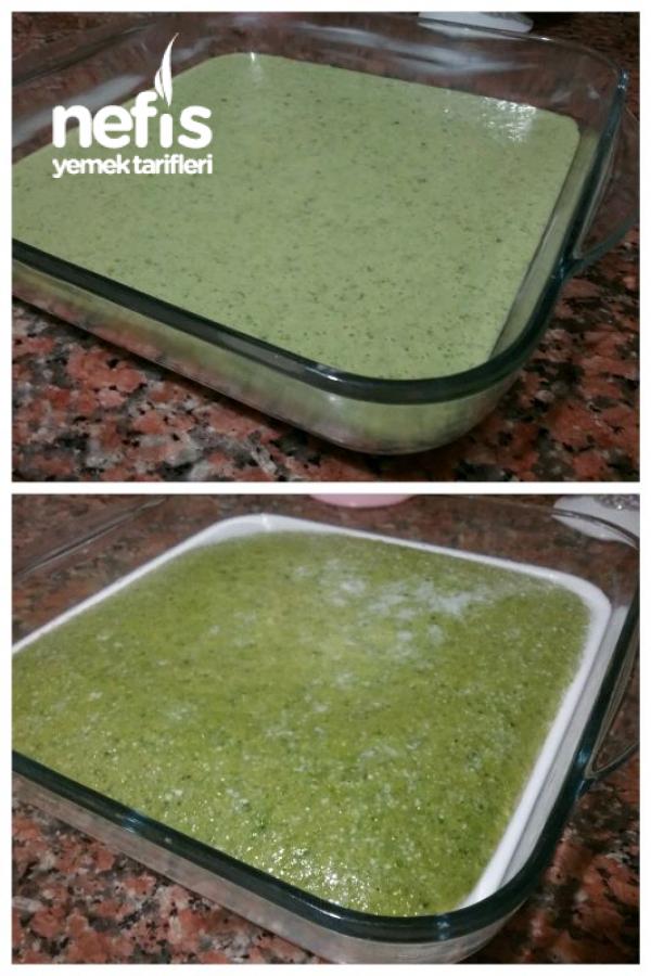Ispanaklı Gelin Pastası(ipek Gibi Yumuşacık Ve Hafif)