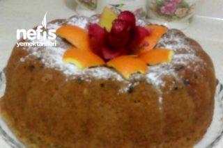 Portakallı Cevizli Çikolata Damlalı Tarçınlı Kek (Çok Kabaran) Tarifi