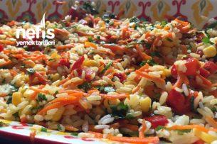 Pirinçli Renkli Salata Tarifi