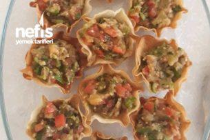 Çıtır Çanaklarda Patlıcan Salatası Tarifi