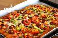 Ekmek Hamurundan Tepsi Pizzası (Videolu) Tarifi