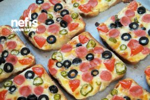 Tost Ekmeğine Pizza Tarifi